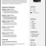 Formato de Currículum Laboral para Rellenar Gratis