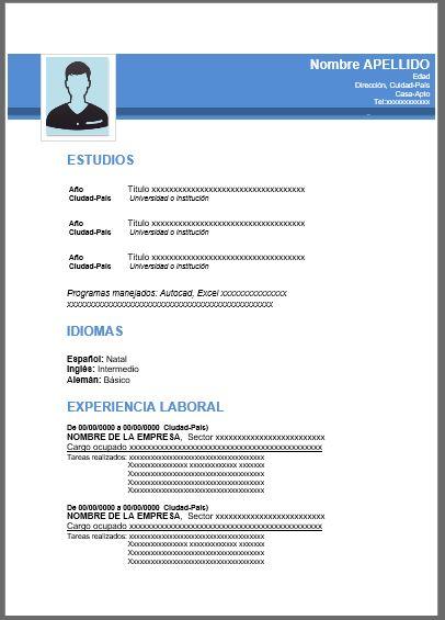 Currículum Vitae Profesional Azul