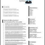 Formato de Currículum Sin Experiencia