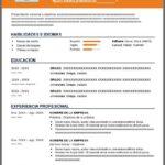 Formato de Currículum Estudiante sin Experiencia