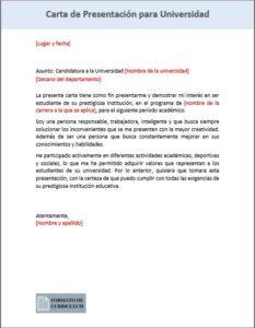 Carta Presentacion Para Universidad